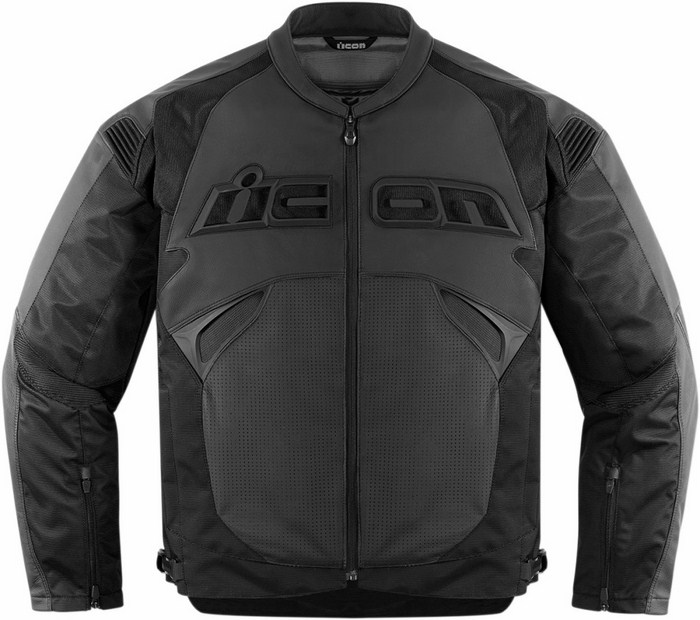 Giacca moto pelle Icon Sanctuary Nero