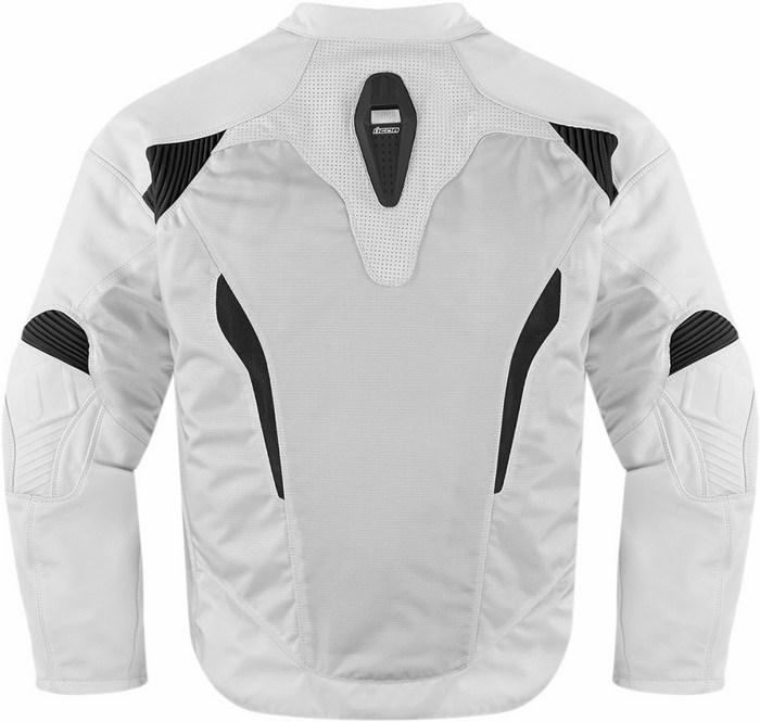 Giacca moto pelle Icon Sanctuary Bianco