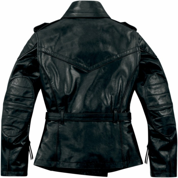 Women leather motorcycle jacket Icon 1000 Federal Black