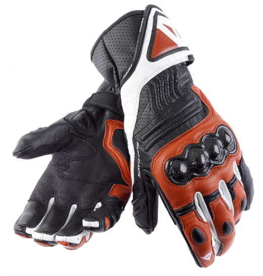 Dainese Carbon Cover Lady motorcycle gloves white-black-red