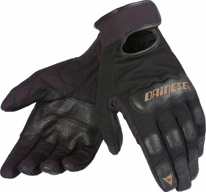 Guanti moto donna Dainese Double Down Nero