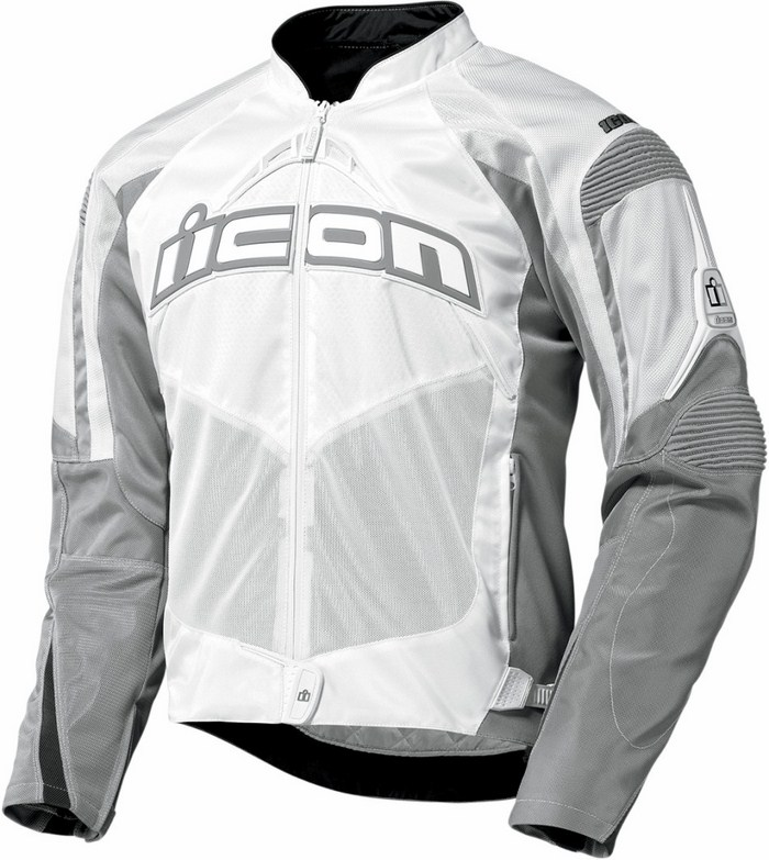 Icon Contra Motorcycle Jacket Summer White