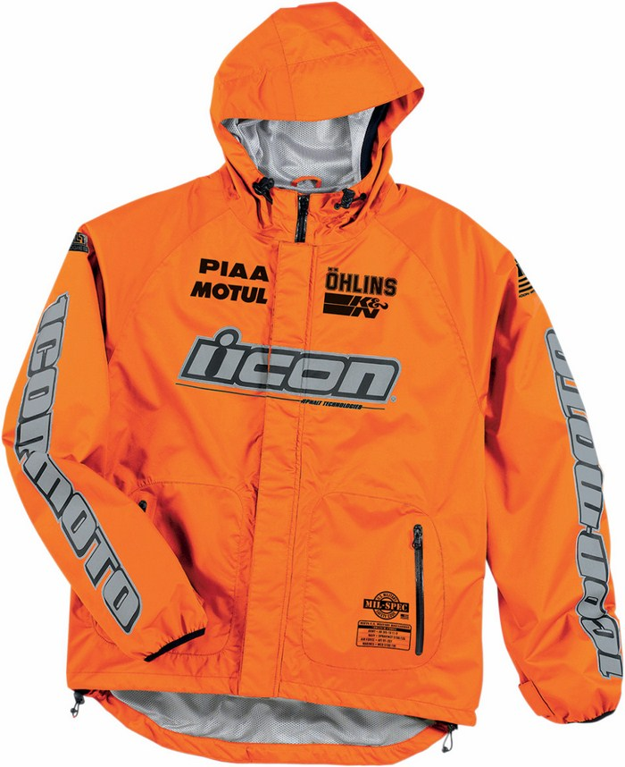 Icon PDX Rain Jacket Orange fluo