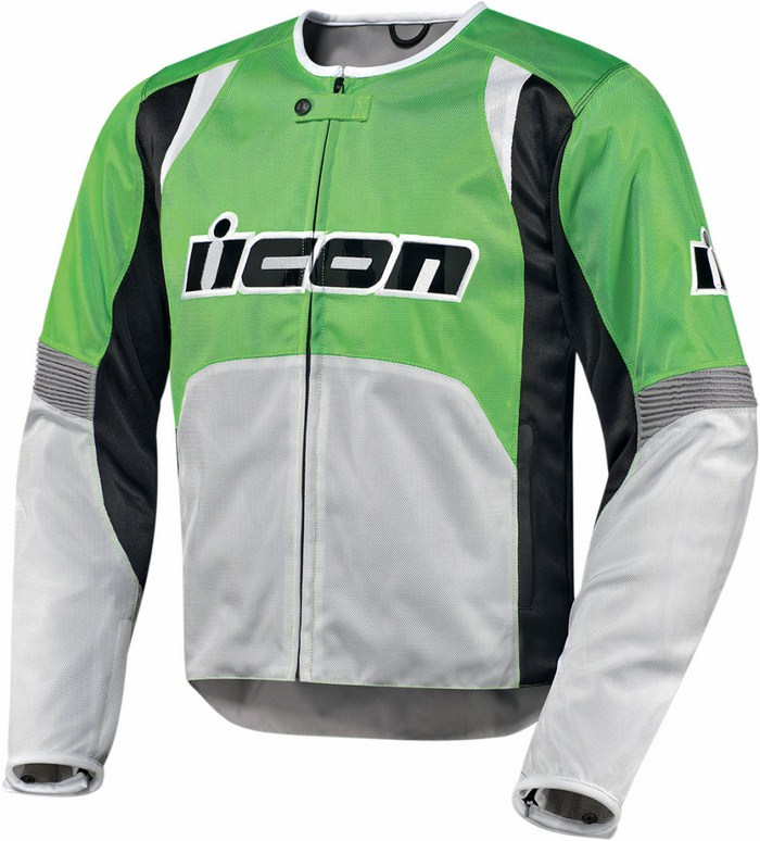 Icon Overlord Textile Motorcycle Jacket Summer Green