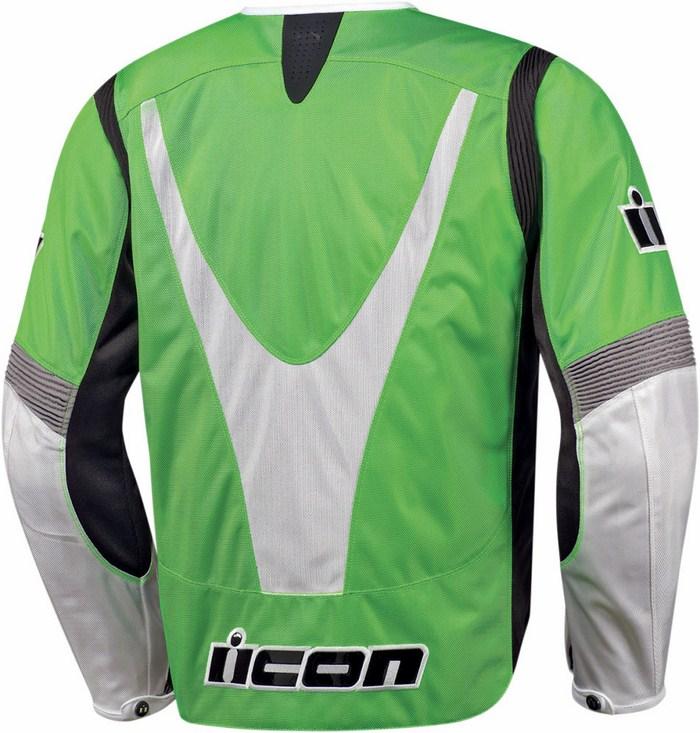Giacca moto estiva Icon Overlord Textile Verde