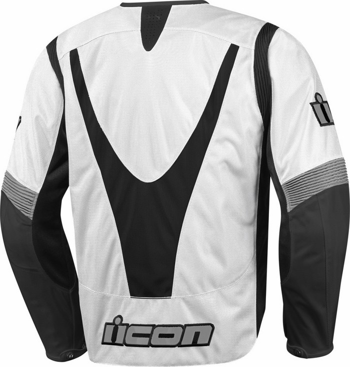 Icon Overlord Textile Motorcycle Jacket Summer White
