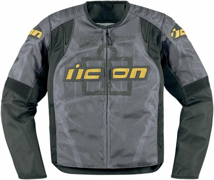 Giacca moto estiva Icon Overlord Type 1 Grigio