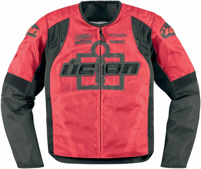 Summer motorcycle jacket Icon Overlord Type 1 Red