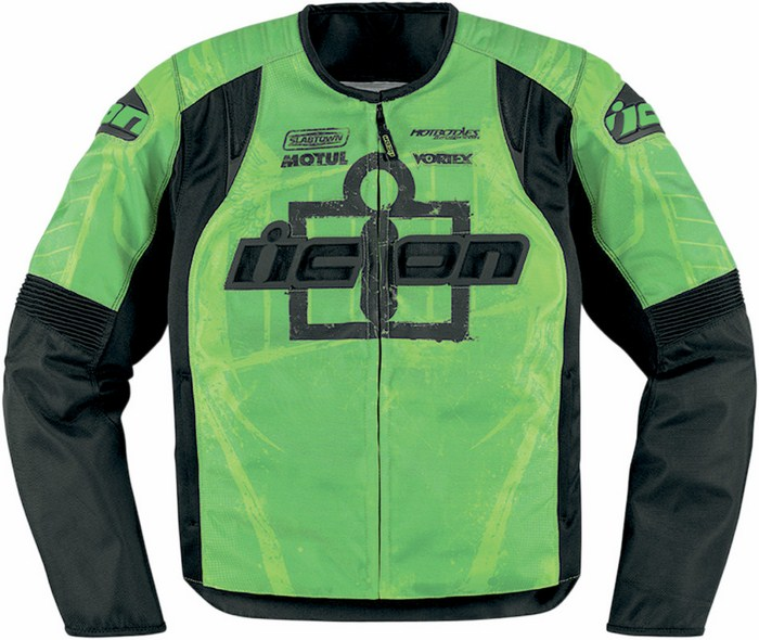 Summer motorcycle jacket Icon Overlord Type 1 Green