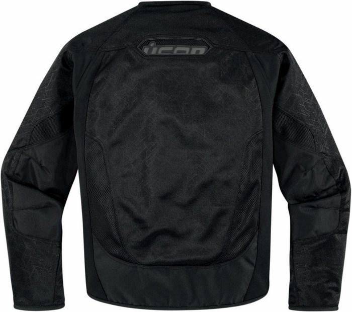 Summer motorcycle jacket Icon Anthem Black Mesh