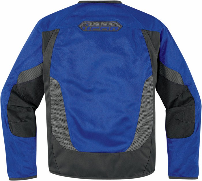 Summer motorcycle jacket Icon Anthem Blue Mesh