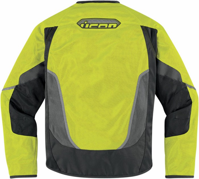 Summer Mesh Motorcycle Jacket Icon Anthem Yellow fluo