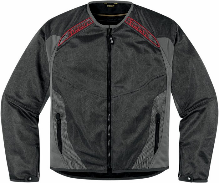 Summer motorcycle jacket Icon Grey Mesh Anthem