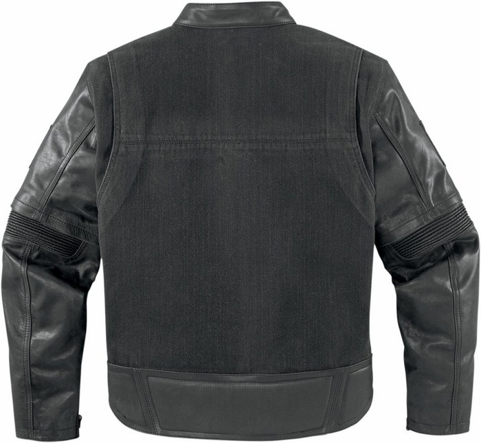 Leather motorcycle jacket with detachable sleeves Outsider Icon