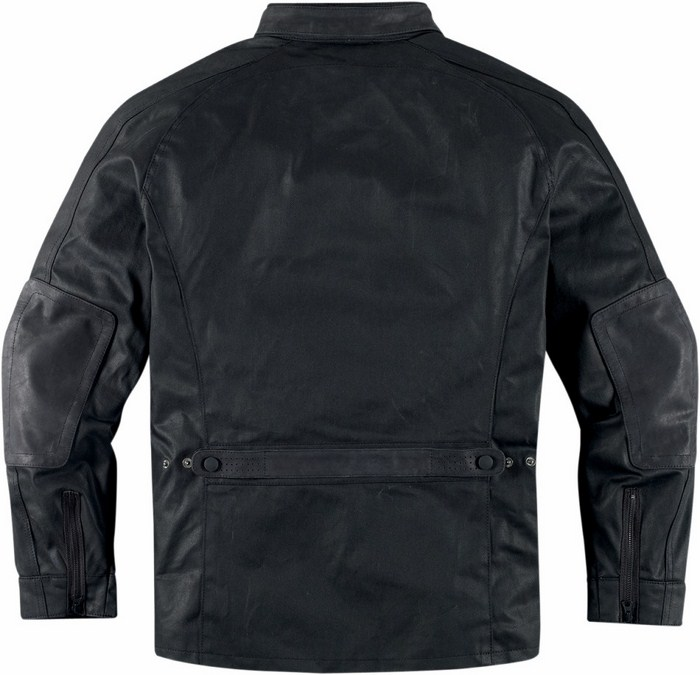 Leather motorcycle jacket Icon 1000 Black Akorp