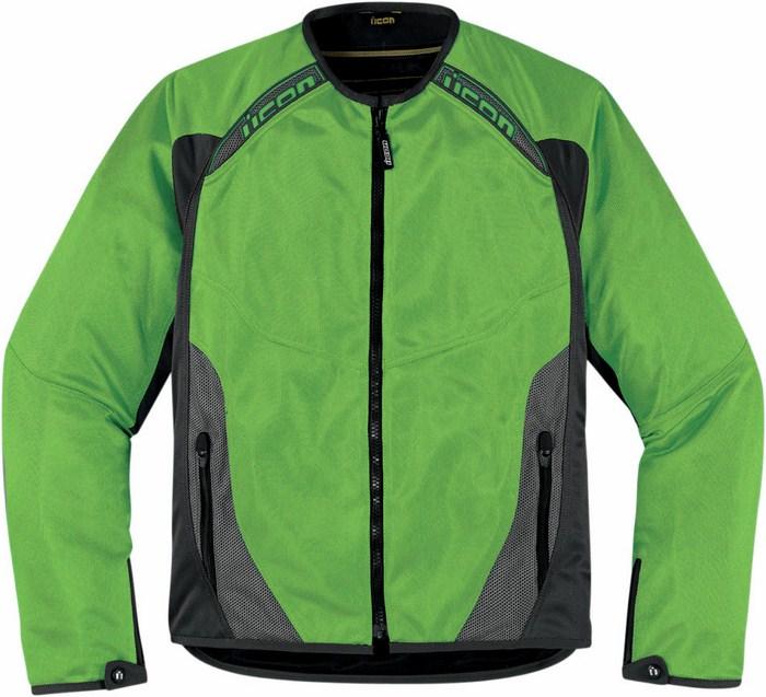 Summer motorcycle jacket Icon Anthem Mesh Green