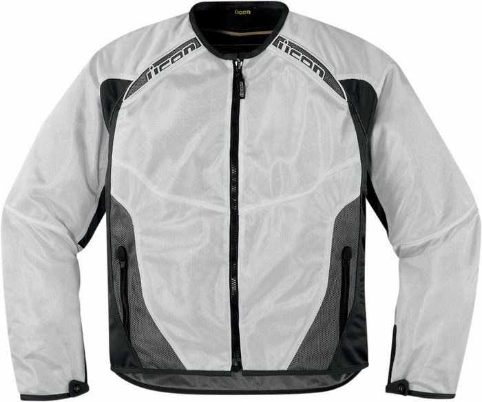 Giacca moto estiva Icon Anthem Mesh Bianco