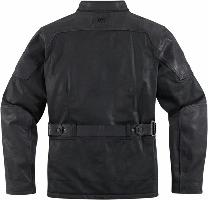 1000 Beltway Icon leather motorcycle jacket Black