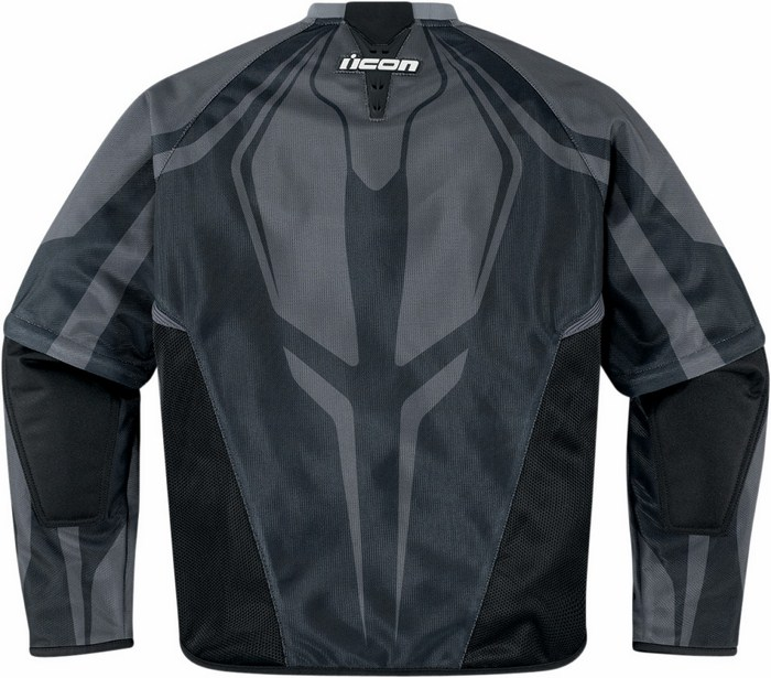 Icon Hooligan summer motorcycle jacket with removable sleeves Bl