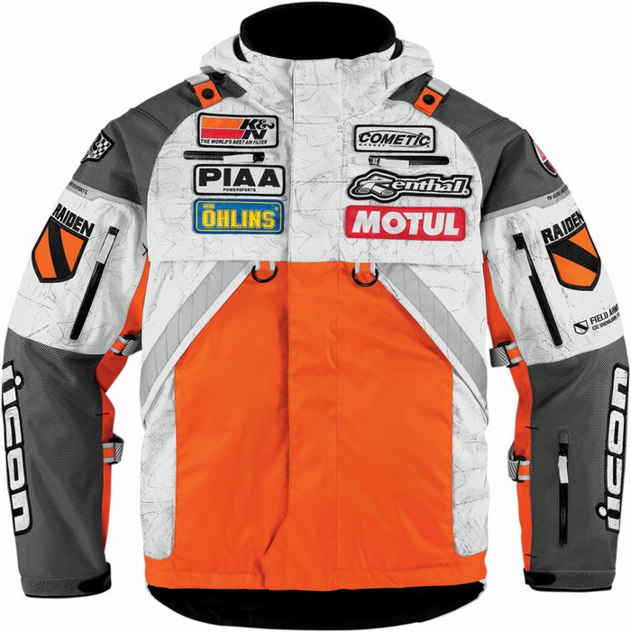 Icon Patrol Waterproof Motorcycle Jacket Waterproof Raiden Orang