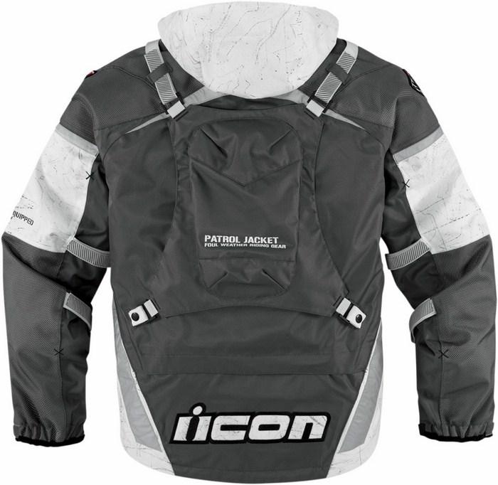 Icon Patrol Waterproof Motorcycle Jacket Waterproof  Raiden Grey