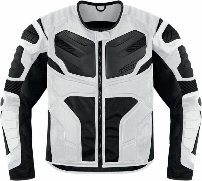 Giacca moto Icon Overlord Resistance Bianco