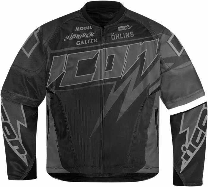 Summer motorcycle jacket Icon Hooligan Spaztyk Black