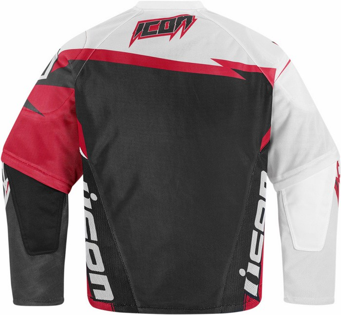Summer motorcycle jacket Icon Hooligan Spaztyk Red