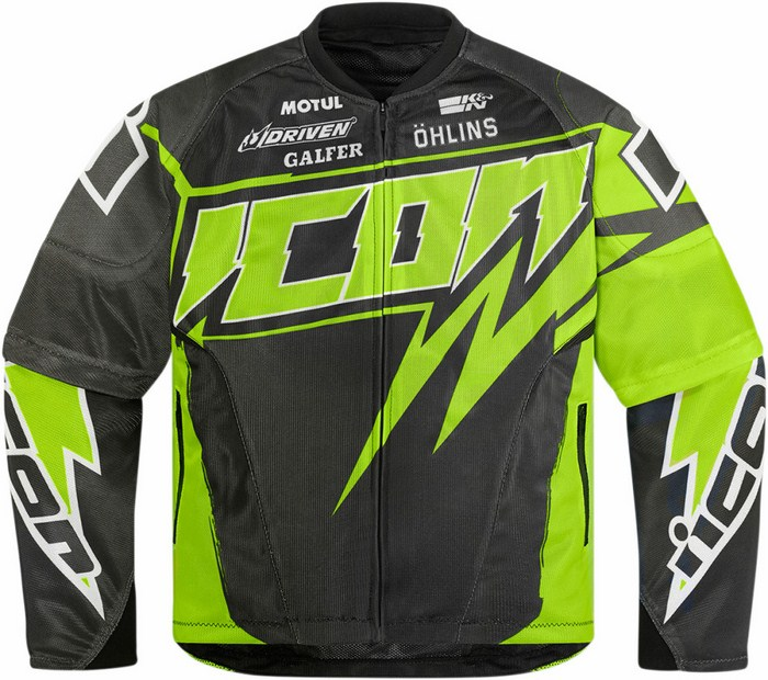 Summer motorcycle jacket Icon Hooligan Spaztyk Green