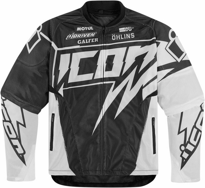 Summer motorcycle jacket Icon Hooligan Spaztyk White