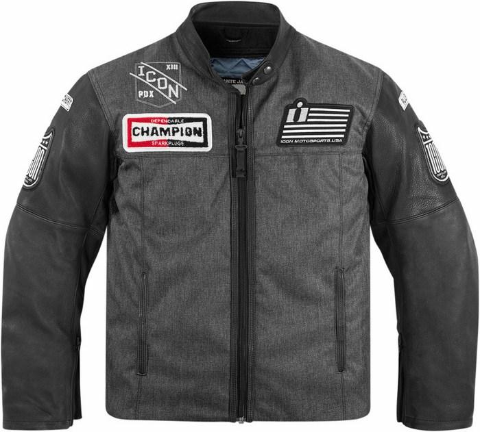 Icon motorcycle jacket 1000 Vigilante Dropout Black
