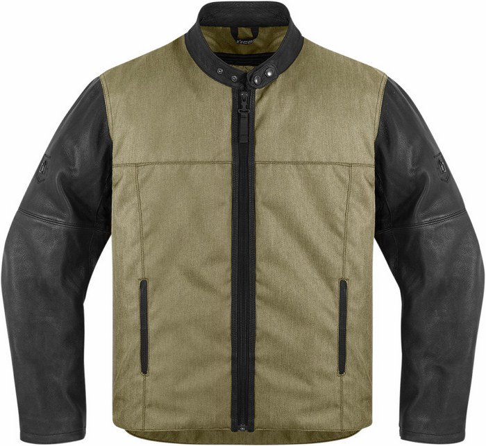Icon motorcycle jacket 1000 Vigilante Green