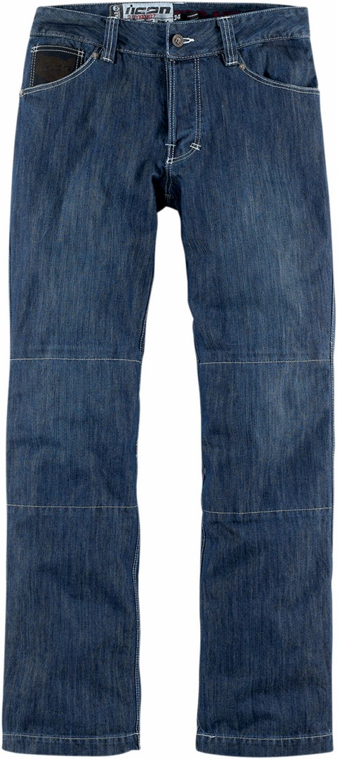 Jeans moto Icon Strongarm 2 Enforcer Blu