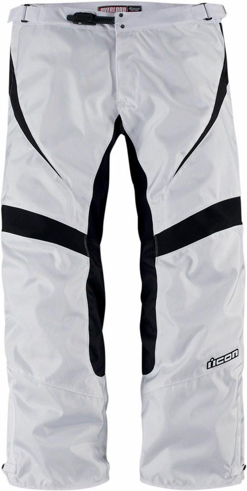 Pantaloni moto Icon Overlord Bianco
