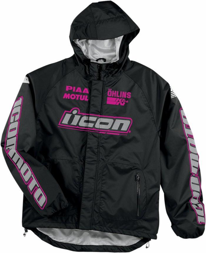 Icon PDX Rain Jacket Women Black Pink