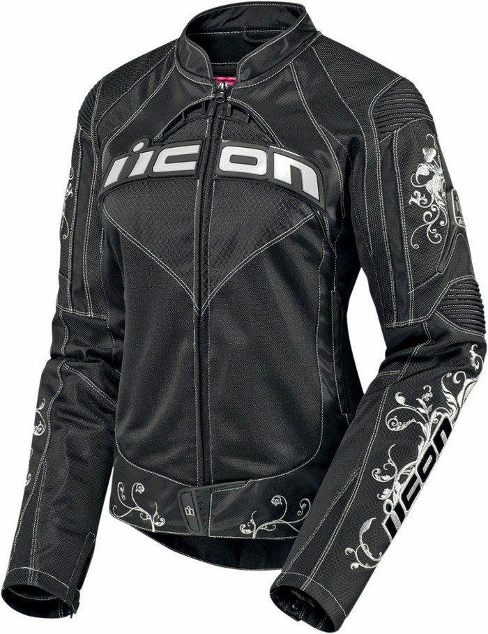Motorcycle jacket women summer Icon Contra Speed ??Queen Black
