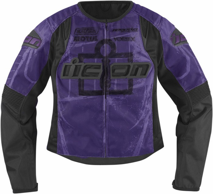 Motorcycle jacket women summer Icon Overlord Type 1 Purple