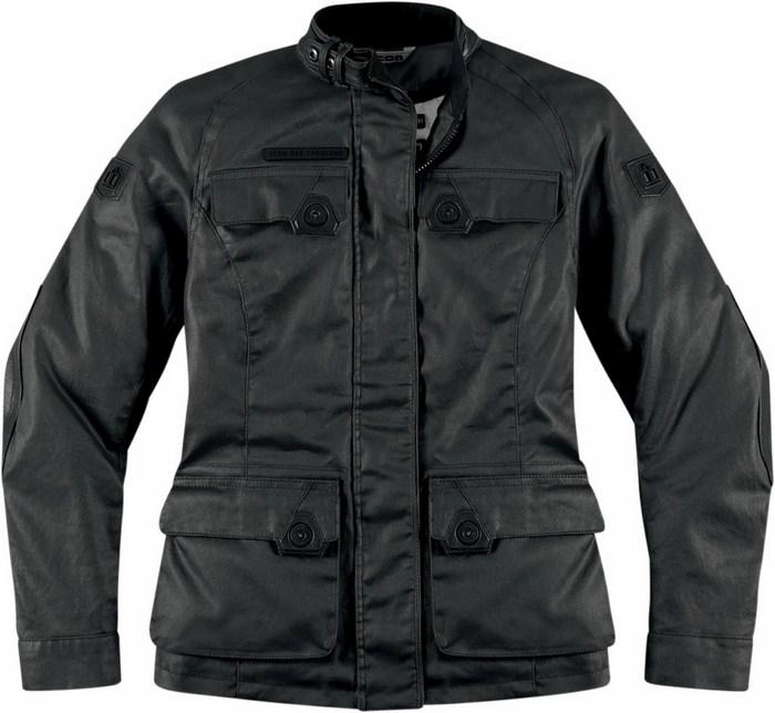 Women leather motorcycle jacket Icon 1000 Black Akorp