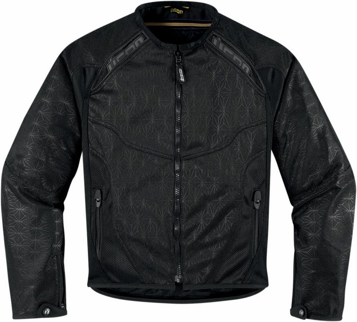 Motorcycle jacket women summer Icon Anthem Black Mesh