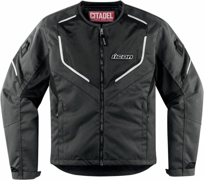 Summer motorcycle jacket Icon Mesh Black Citadel