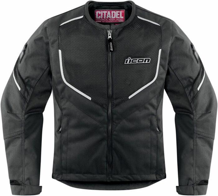 Motorcycle jacket women summer Icon Mesh Black Citadel