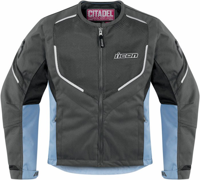 Icon motorcycle jacket women summer Citadel Mesh Grey Blue