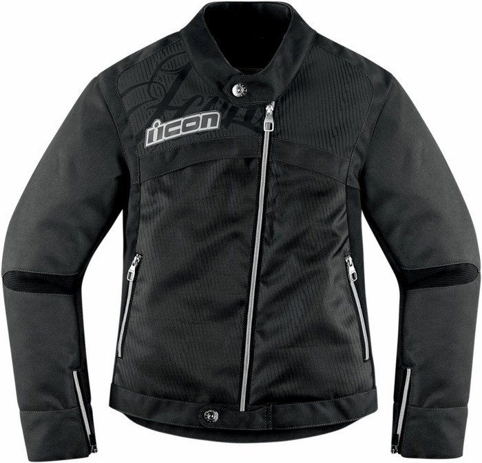 Motorcycle jacket woman Icon Hella Black 2