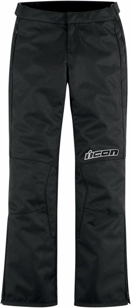 Women motorcycle pants Icon Hella Black 2