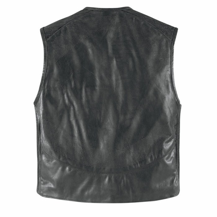 Gilet moto pelle Icon 1000 Associate Nero