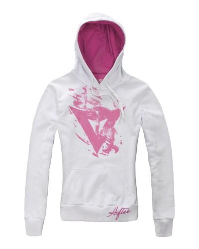 Felpa donna Dainese Scratch Lady bianco-rosa