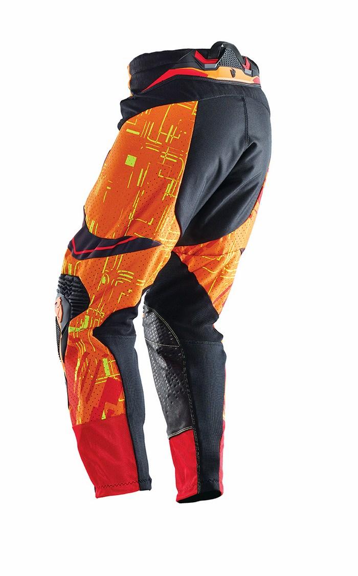 Pantaloni cross Thor Flux Block giallo rosso