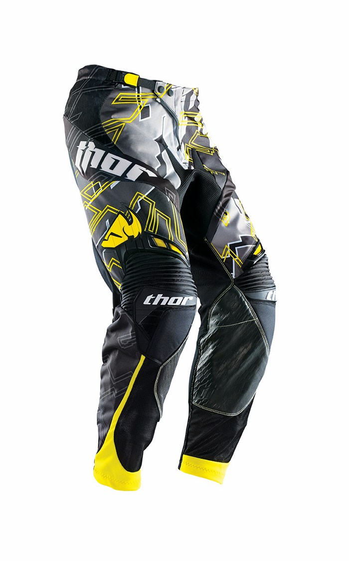 Pantaloni cross Thor Core Fragment nero giallo