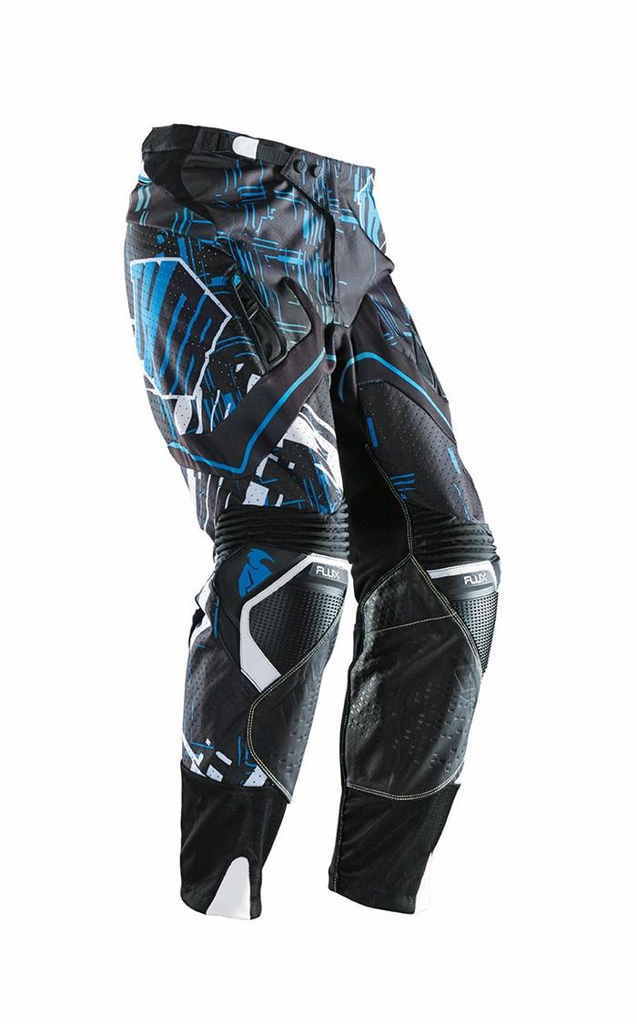 Pantaloni cross Thor Flux Block blu nero