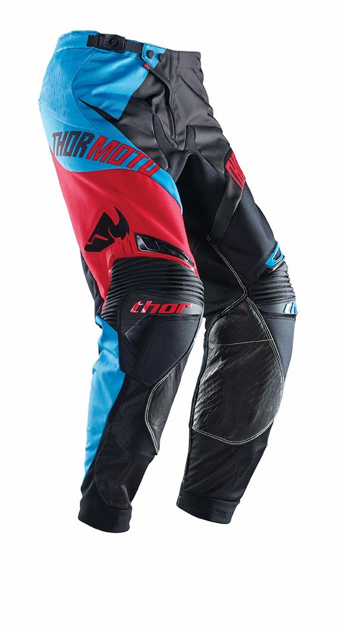 Pantaloni cross Thor Core Razor blu nero rosso